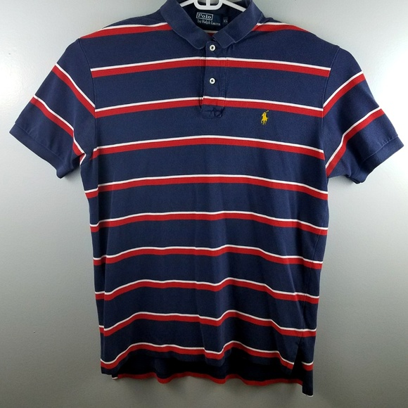Mens Navy Ralph Polo Red Size Vintage Lauren Xl kwP8On0X